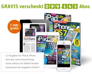 Digitales Abo der Zeitschriften iPad Life und iPhone Life für ein Jahr zu ergattern